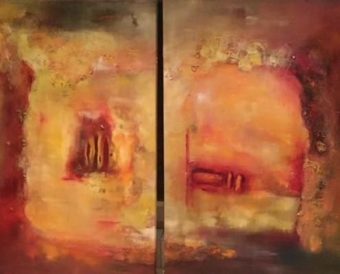 2015 - Er und Sie, Sie und Er, Öl auf Leinwand, 2 Teile, 120 x 60