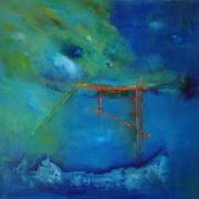 2012, Mikado, Öl auf Leinwand, 80x80